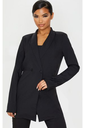 PRETTYLITTLETHING Shoulder Pad Double Button Blazer