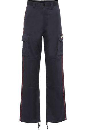 Vetements Wide-leg cotton cargo pants
