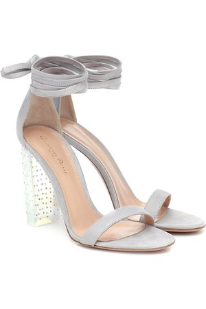 Gianvito Rossi Astra embellished suede sandals