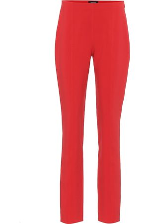 MUGLER Stretch-crêpe skinny pants