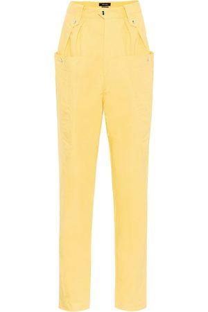 Isabel Marant Yerris high-rise cotton carrot pants