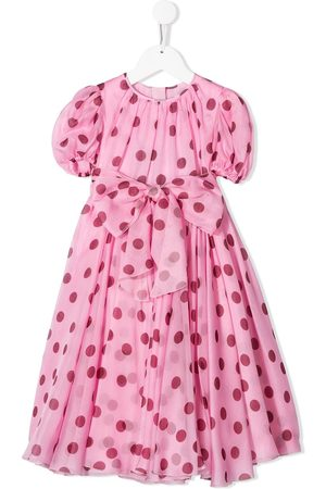 Dolce & Gabbana Girls Dresses - Flared polka dot dress
