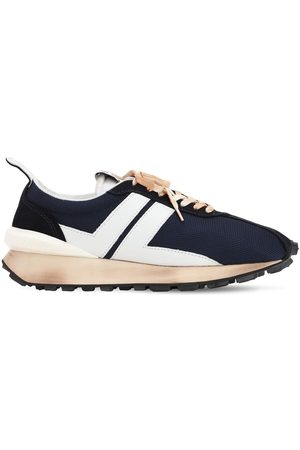 Lanvin Mesh, Leather & Suede Running Sneakers