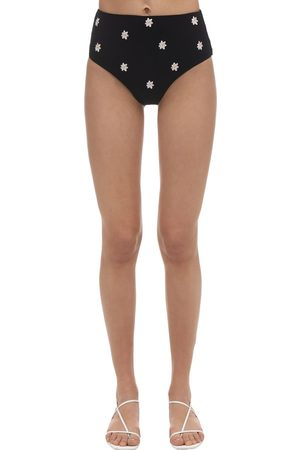 Anemone Embroidered Cheeky High Waist Bottoms