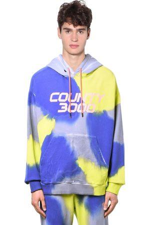 MARCELO BURLON County 3000 Tie Dye Jersey Hoodie