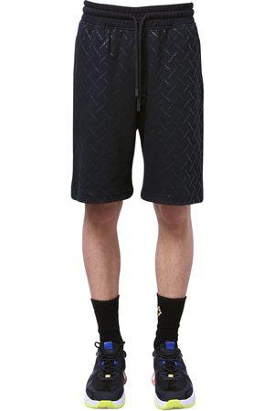 MARCELO BURLON All Over County Print Jersey Shorts