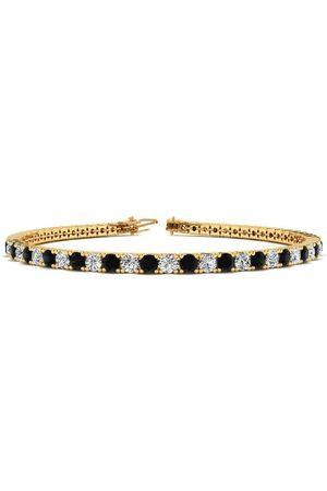 SuperJeweler 6.5 Inch 2.5 Carat Black & White Diamond Tennis Bracelet in (8.4 g)