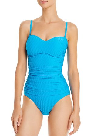 Profile By Gottex Ribbons Bandeau One Piece Swimsuit