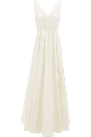 Roksanda Ravena Sequinned Taffeta Gown - Womens - Ivory