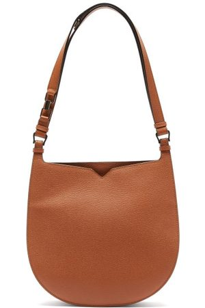 VALEXTRA Hobo Weekend Medium Leather Bag - Womens - Tan