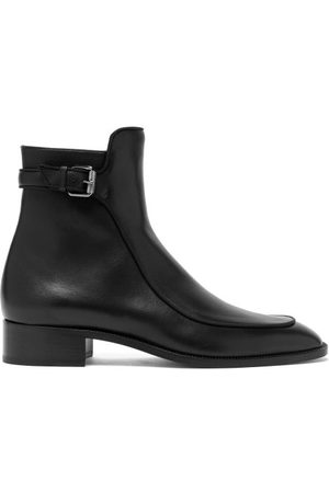 Christian Louboutin Ecritoir Leather Ankle Boots - Womens