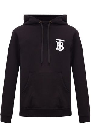 Burberry Landon Tb-logo Cotton Hooded Sweatshirt - Mens