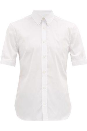 Alexander Mcqueen Men Short sleeves - Brad Pitt Short-sleeved Cotton-blend Shirt - Mens