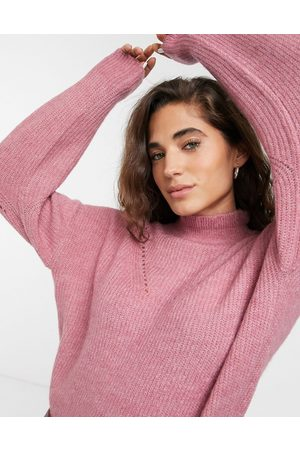 Selected Femme high neck sweater with stitch detail