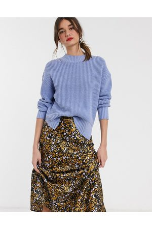 Selected Femme oversized sweater with side splits in