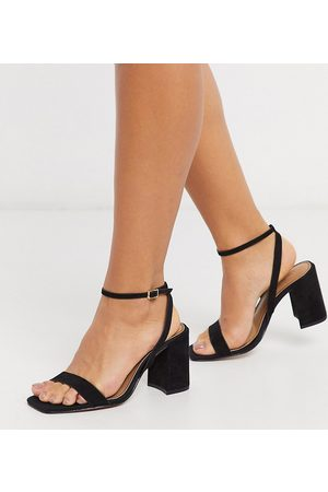 ASOS Wide Fit Havana barely there block heeled sandals in