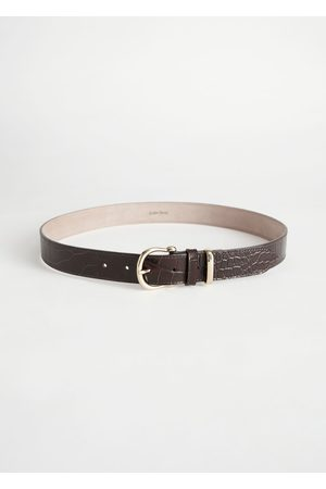 & OTHER STORIES Croco Leather Belt