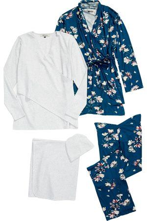 Angel Maternity Women Nightdresses & Shirts - Women's Five-Piece Maternity/nursing Sleep Set