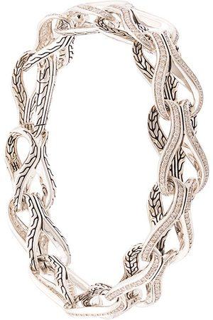 John Hardy Asli Classic Chain Link diamond pavé bracelet