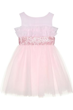 MONNALISA Embellished tulle dress