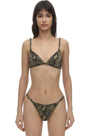 Solid Lou Lou Snake Knit Triangle Top