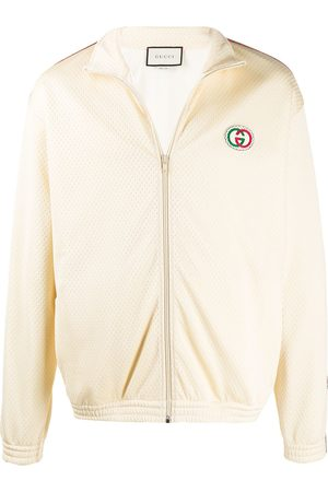 Gucci Braided trim track jacket - NEUTRALS