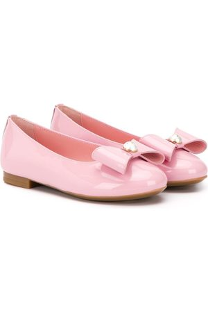 Dolce & Gabbana Girls Ballerinas - Bow-detail ballerina shoes