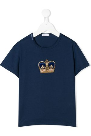 Dolce & Gabbana Crown patch crew neck T-shirt