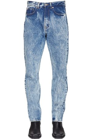 VERSACE Bleached Cotton Denim Jeans