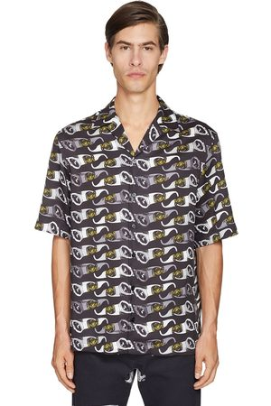 VERSACE Glasses Printed Short Sleeved Shirt