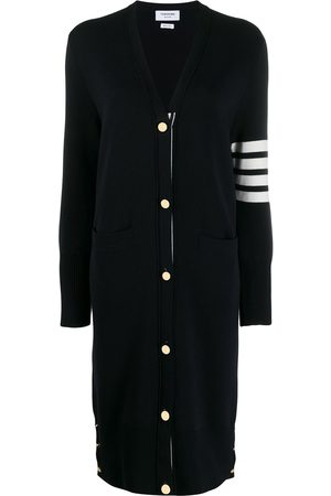 Thom Browne Women Cardigans - 4-Bar stripe cardi-coat