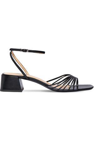 By Far Women Sandals - 40mm Anna Plexi & Leather Sandals