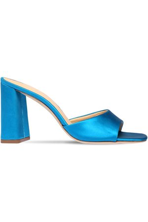 By Far 90mm Juju Satin Mule Sandals