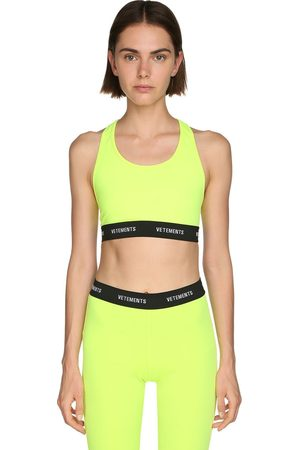 Vetements Women Crop Tops - Logo Lycra Crop Top