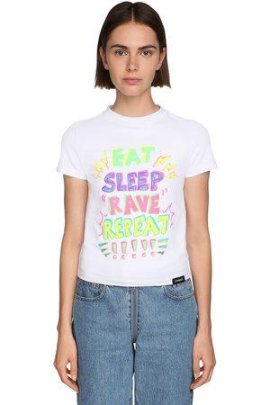 Vetements Women T-shirts - Printed Cotton Jersey T-shirt