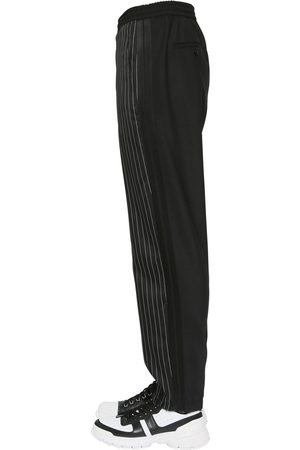Neil Barrett Extra Fine Cupro & Gabardine Pants