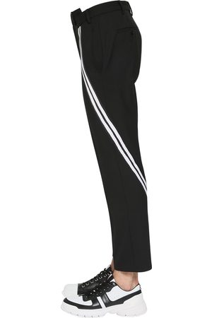 Neil Barrett Striped Stretch Gabardine Pants