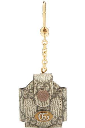 Gucci Ophidia Gg Supreme Headphone-case Key Ring - Womens - Grey Multi