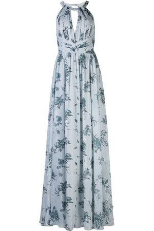 Marchesa Notte Chiffon open back bridesmaid gown