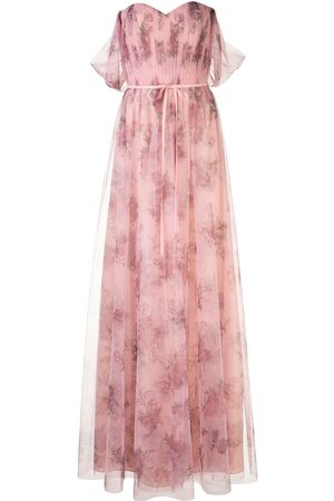 Marchesa Notte Tulle draped bridesmaid gown