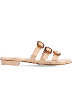 Cult Gaia 10mm Tallulah Leather Flat Sandals