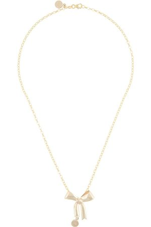 Karen Walker 9kt bow pendant necklace - Metallic