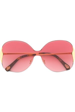 Chloé Two-tone oversized frame sunglasses