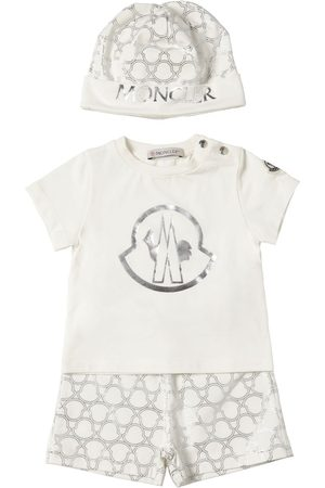 Moncler Printed Cotton T-shirt, Shorts & Hat
