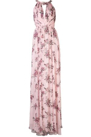 Marchesa Notte Bridesmaids Halterneck floral bridesmaid dress