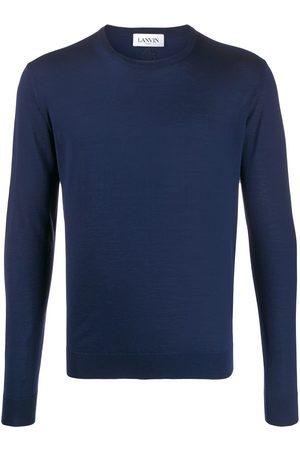 Lanvin Men Sweatshirts - Crew neck ribbed jumper