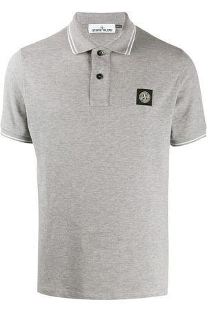 Stone Island Logo-patch polo shirt - Grey