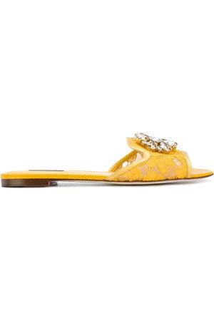 Dolce & Gabbana Women Flat Shoes - Bianca flat sandals