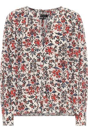 Isabel Marant Amba floral stretch-silk blouse