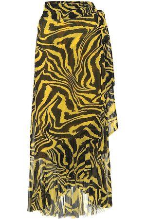 Ganni Exclusive to Mytheresa – Animal-print wrap skirt